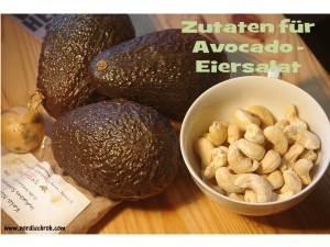 """Zutaten für den Avocado """"Eier""""-Salat"""