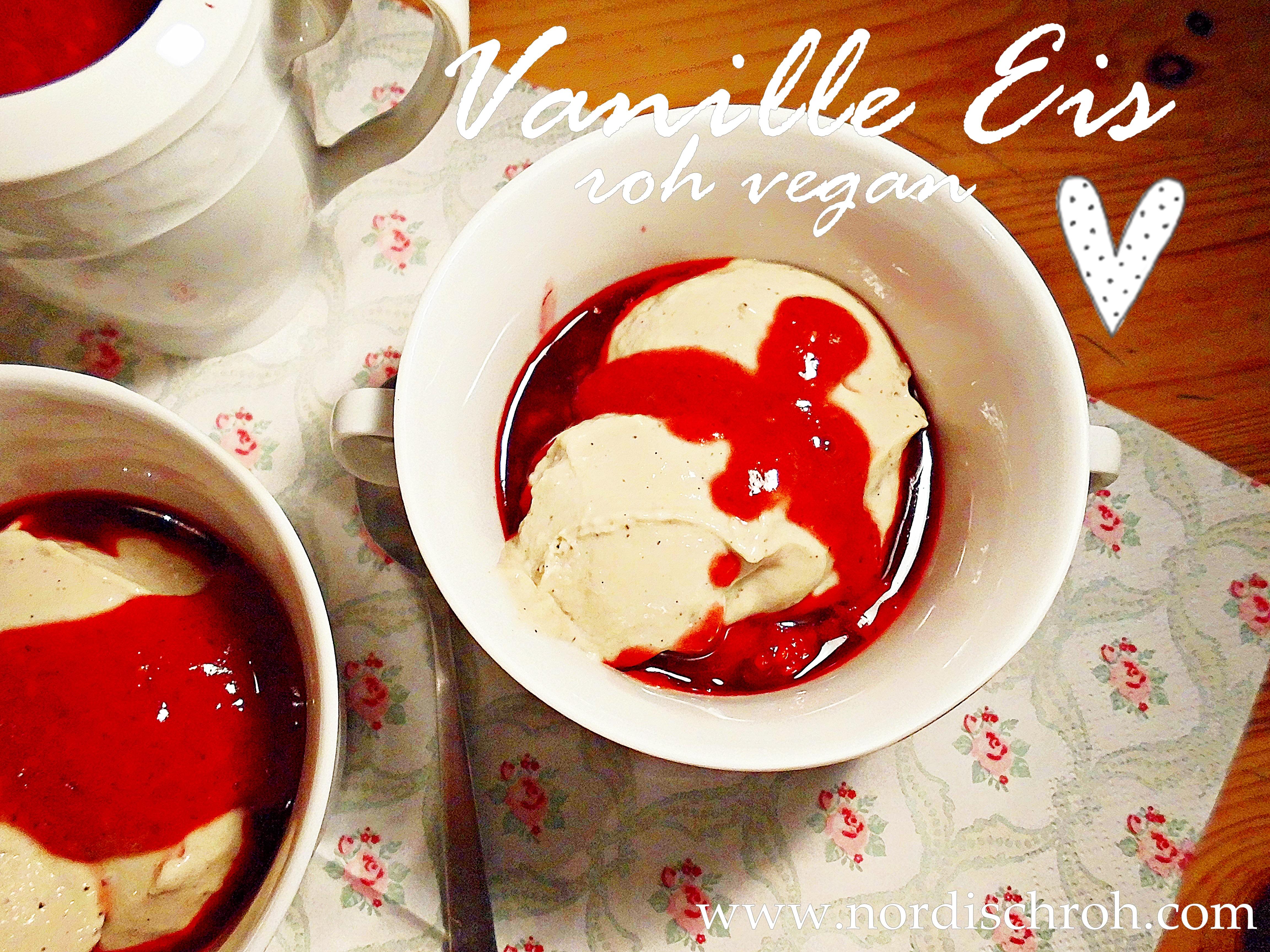 Vanille Eis roh vegan